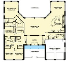 Ranch Style House Plans 2539 Square Foot Home 1 Story