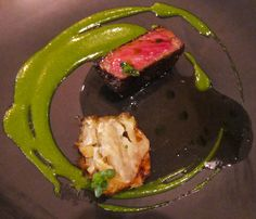 Calotte with Watercress, Artichoke and Onion (calotte is the yummy, tender part of beef wrapped around the rib-eye), at Esquire in Brisbane