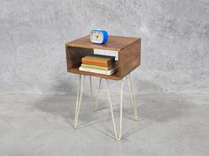 This hairpin side or bedside table is a little pocket rocket, showing how simplicity can make all the difference.