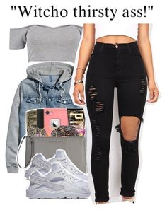 """4-28-2017 9:10 PM EST"" by kaydabae4life ❤ liked on Polyvore featuring Boohoo, H&M, NIKE and Vibrant"