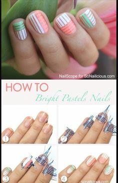 Nail art streepjes en nog meer streepjes