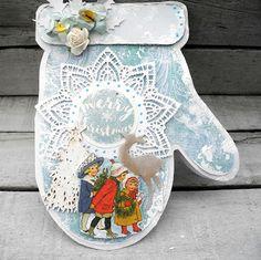 Jeg har lavet et julekort mewd de lækre papir fra Craftandyou design,  stemplet er far Wycinanka                    Du må have en god aften...
