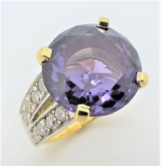 Alexanderite and diamond dress ring