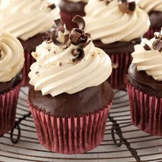 Chocolate Ganache Peanut Butter Cupcakes from Taste of Home -- shared by Ronda Schabes of Vicksburg, Michigan