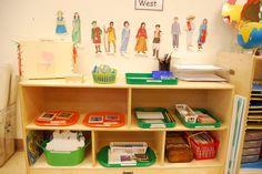 Montessori Geography Shelf