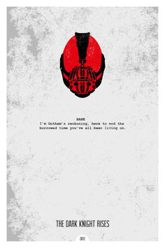 The Dark Knight Rises (2012) ~ Minimal Movie Quote Poster by Dope Prints #amusementphile