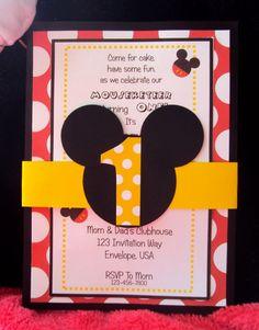 Invitaciones de fiesta de cumpleaños de Mickey Mouse
