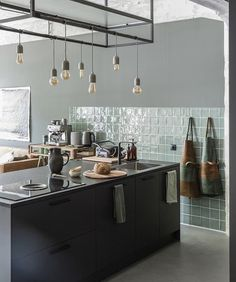 future home design Home Kitchens, Kitchen Remodel, Kitchen Design, Black Kitchens, Kitchen Inspirations, Kitchen Decor, Kitchen Interior, Kitchen Cabinets Decor, Kitchen Technology