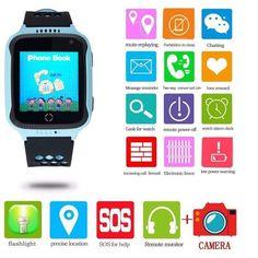 CEAS PENTRU COPII SmartWatch pentru copii cu GPS, camera foto, functie telefon, lanterna, touch screen, buton SOS, culoare Albastru   #Accesorii, #Accesoriicopii, #Ceas, #Ceasuricopii, #SmartWatch Smartwatch, Flashlight, Clock, Messages, Watches, Phone, Lantern, Smart Watch, Watch