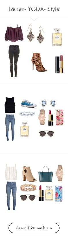"""""""Lauren- YGDA- Style"""" by inestrindade on Polyvore featuring BCBGeneration, Topshop, Accessorize, Chanel, Converse, T By Alexander Wang, Forever New, Harry Winston, GUESS and Revlon"""