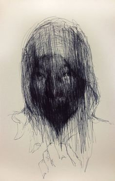 (D67) untitled conte on paper 23.8 x 15.4 cm 2013 by KwangHo Shin, via Behance #ballpoint #drawing #portrait