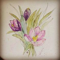#watercolor #painting #illustration #takingabreak #instapainting #losemyself #thingsilove #watercolor #painting #takingabreak #instapainting #losemyself #artistsoninstagram #drawing #doodling #bouquet #flowers #lavenderflowers #lavender #instaflowers #goofingaround