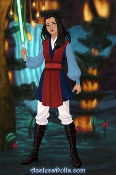 Jedi Mulan by violetphoenix13 ~ Azalea's Dress Up Dolls