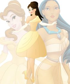 disney fusion: Belle and Pocahontas by Willemijn1991 on DeviantArt
