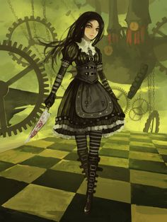Alice and Wonderland: video game.  Call me sick and wrong but I want to sport an outfit like hers without the knife (so I can actually go to work without getting arrested.)