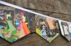 Sleeping Beauty bunting..  Want to do an Alice Version