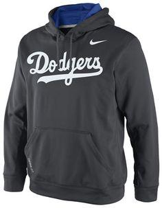 Los Angeles Dodgers Dark Grey Nike Therma-Fit Fleece Hooded Sweatshirt #dodgers #mlb #ladodgers