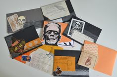 Halloween mail art (perfect collage-y sort of way to construct Halloween party invites too!!)