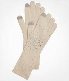 TOUCHSCREEN COMPATIBLE RHINESTUD KNIT GLOVES | Express, 18-