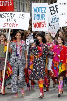 Chanel's feminism protest for Paris fashion show