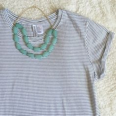 NWOT H&M jersey striped tee NWOT jersey tee from H&M. Brand new and super cute! It's striped with cuffed sleeves. Super casual and would look great tucked in to some jeans! ❌no trades. H&M Tops Tees - Short Sleeve