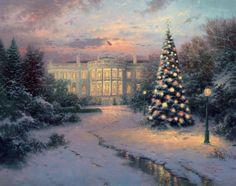 Painting & Co - Thomas Kinkade - The Lights of Liberty - Washington, D.C. (2000)