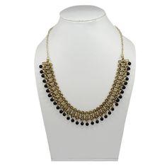 Black Onyx Brass Tribal Necklace Women Gift Awesome Jewelry PG 7890 #PinkCityGems #Necklace