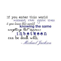 michael jackson quote by ♥iℓoveyou . USE found on Polyvore