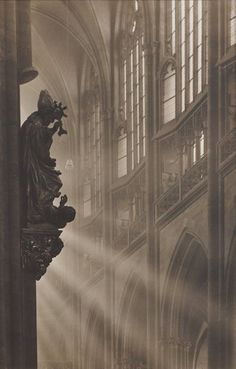 St Vitus Cathedral, by Josef Sudek ca. 1928
