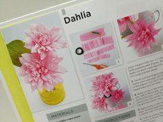 DIY How to make a paper peony - Tutorial