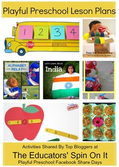 Playful Preschool Weekly Lesson Plan: Learning Activities, Games, Math, Reading and more