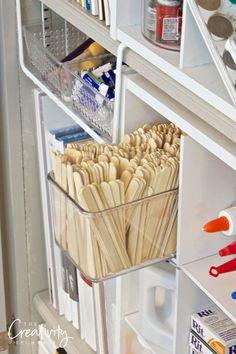 Creative ways to organize craft supplies