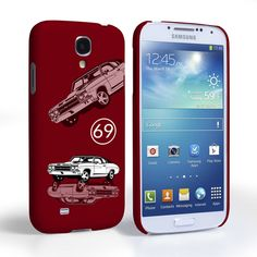 Caseflex Chevrolet Chevelle Classic Car Samsung Galaxy S4 Mini Case- Burgundy | Mobile Madhouse