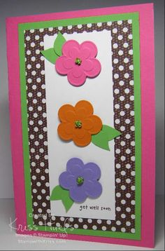 Simple embosslit flower card.