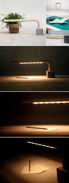 An IKEA stool turns into a DIY lamp and tripod stool combo