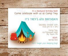 Free Printable Camping Birthday Invitations | printable camping checklist – camping invitation diy printable tent ...