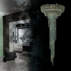 XXL spiral lighting by ArtGlass Luxury Lighting, Crystal Pendant, Chandelier, Pendants, Ceiling Lights, Spirals, Crystals, Stone, Modern