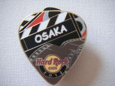 HRC Hard Rock Cafe UCW Osaka 2012 October Postcard Pick Pin Le 300 | eBay