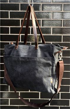The Kaolin Tote Bag is large enough to use as a travel bag, school bag, gym bag, shopping bag, or every day bag. So versatile with 4 external pockets and 3 internal pockets. Plus, the carrying options include leather shoulder straps or a detachable cotton canvas shoulder strap that can also be worn cross body. This gorgeous canvas bag is available in 4 colours and our favourite bag we've designed to date! See more at proyager.com.au