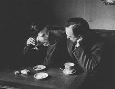 Elizabeth and I in Cafe Montparnasse 1931