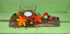 "Herbstgesteck ""Früchte"" von Florinchen´s Labor auf DaWanda.com Wedding Favors, Etsy, Table Decorations, Christmas Ornaments, Holiday Decor, Fall, Home Decor, Artificial Flowers, Ideas"