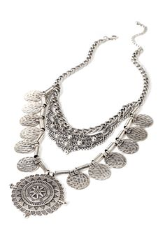 Layered Medallion Necklace | FOREVER21 - 1000136355