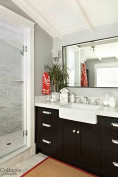 Love the treatment of the shower door - this could work