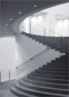 Swinging Stairs Inside the Federal Art Hall, Bonn