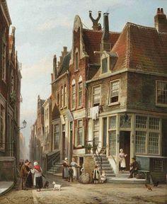 Cornelis Christaan Dommersen. Joods kwarier Amsterdam 1878,