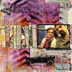 My journey Altered Art, Digital Scrapbooking, Mixed Media, Journey, Creative, Artist, Painting, Artists, Painting Art