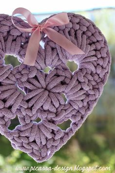 <3 made of cotton rope