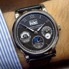 Wealth Wednesday  This week I'm excited to feature the Langematik Perpetual in White Gold with Black Dial ($84,200.00) by A. Lange & Söhne.