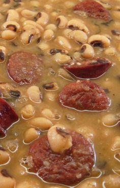 Emeril Lagasse's Smoked Sausage and Black Eyed Peas
