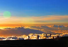 sunset above the clouds at Haleakala N.P - Maui - Hawaii by paulo menge, via 500px